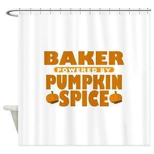 Pumpkin Spice Shower Curtains