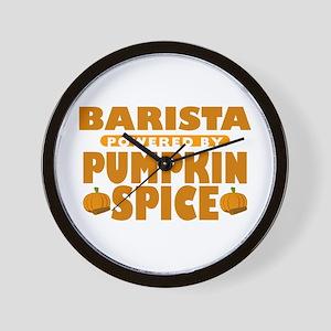 Barista Powered by Pumpkin Spice Wall Clock