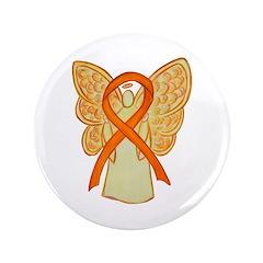 """Orange Awareness Ribbon 3.5"""" Button (100 Pack"""