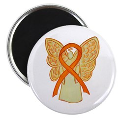 Orange Awareness Ribbon Angel Magnets