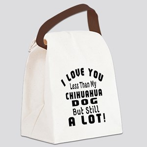 Chihuahua dog designs Canvas Lunch Bag