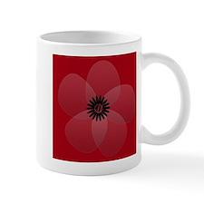 Bright Red Floral Mug