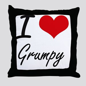 I love Grumpy Throw Pillow