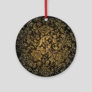 Decorative damask Round Ornament