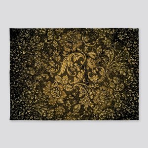 Decorative damask 5'x7'Area Rug