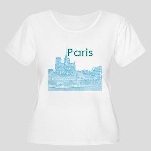 Paris Women's Plus Size Scoop Neck T-Shirt