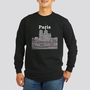 Paris Long Sleeve Dark T-Shirt