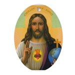 Sacred Heart Oval Ornament