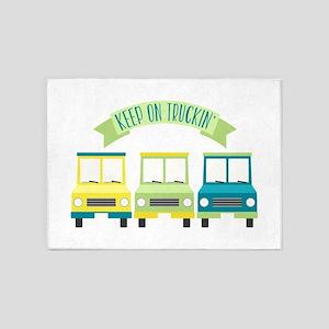 Keep On Truckin 5'x7'Area Rug