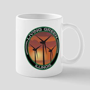 Living Green Illinois Wind Power Mug