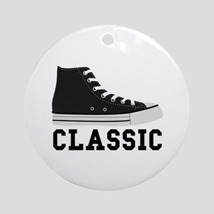 Classic Sneakers Round Ornament