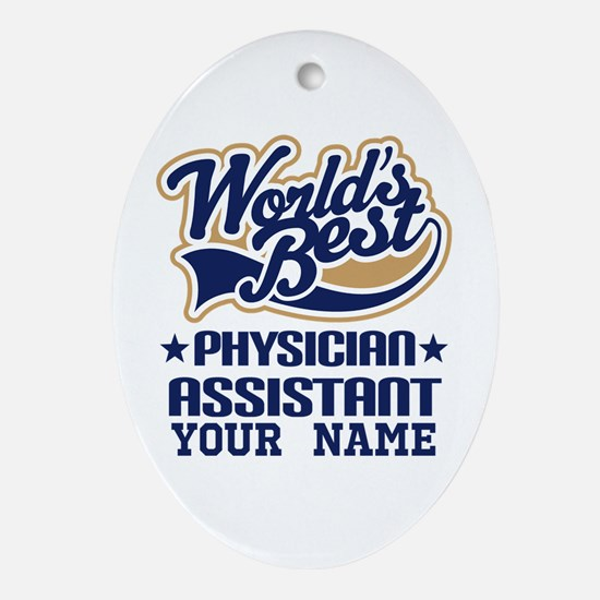 Physician Assistant Personalized Oval Ornament