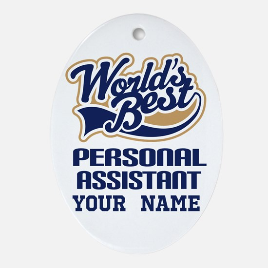 Personal Assistant Personalized Oval Ornament