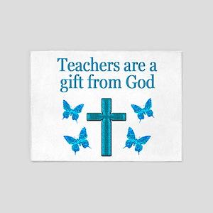 TEACHER BLESSING 5'x7'Area Rug