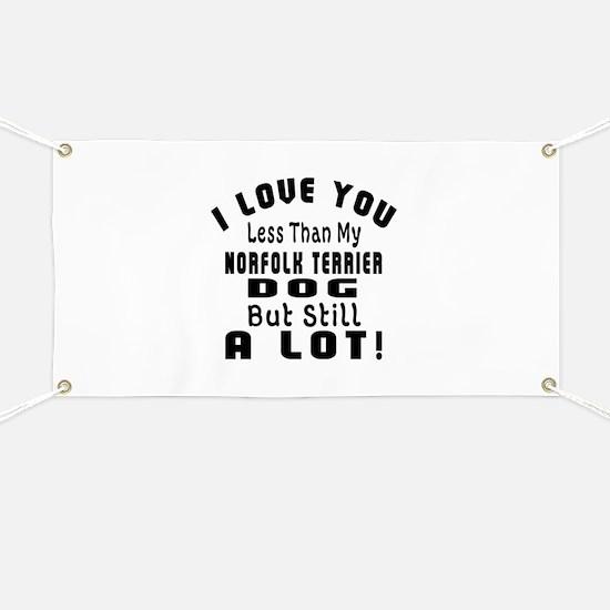 Norfolk Terrier dog designs Banner