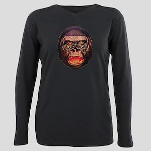 Retro Gorilla Plus Size Long Sleeve Tee