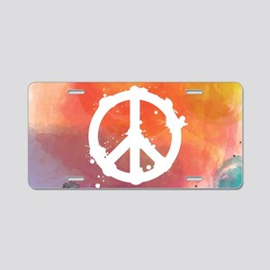 Peace Sign Aluminum License Plate