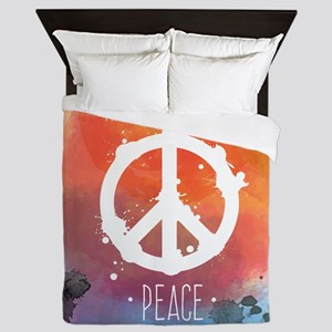 Peace Sign Queen Duvet