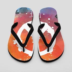 Peace Sign Flip Flops