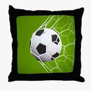 Football Goal Throw Pillow
