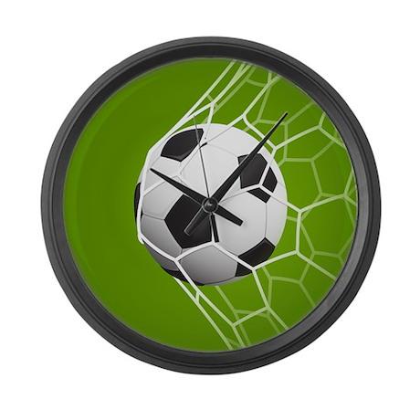 FOOTBALL GOAL LARGE WALL CLOCK