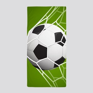 Football Goal Beach Towel
