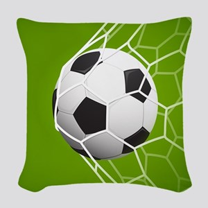 Football Goal Woven Throw Pillow