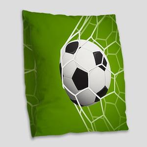 Football Goal Burlap Throw Pillow
