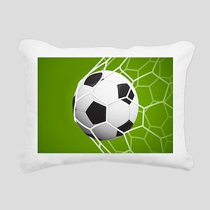 Football Goal Rectangular Canvas Pillow