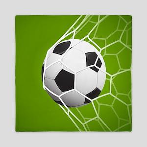 Football Goal Queen Duvet