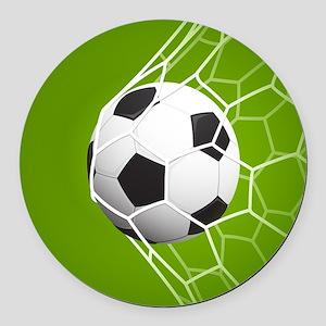 Football Goal Round Car Magnet