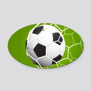 Football Goal Oval Car Magnet