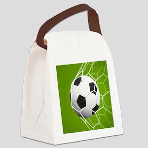 Football Goal Canvas Lunch Bag