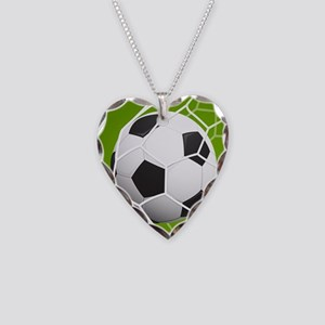 Football Goal Necklace Heart Charm