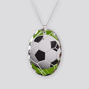 Football Goal Necklace Oval Charm