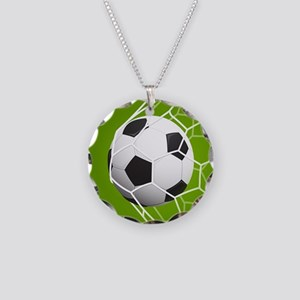 Football Goal Necklace Circle Charm