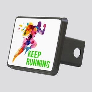 Keep Running Rectangular Hitch Cover