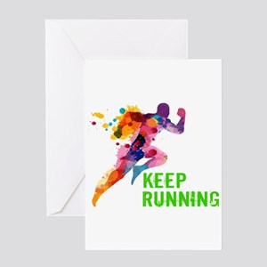 Keep Running Greeting Cards