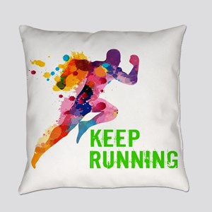 Keep Running Everyday Pillow