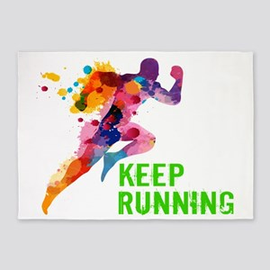 Keep Running 5'x7'Area Rug