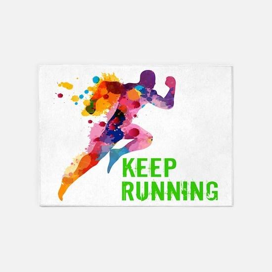 Keep Running 5'x7'Area Rug