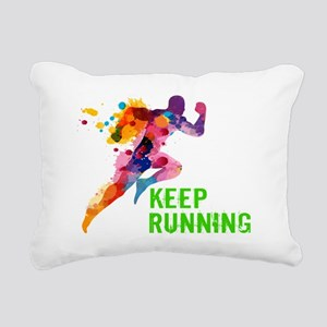 Keep Running Rectangular Canvas Pillow