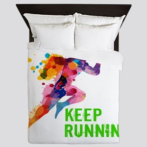Keep Running Queen Duvet
