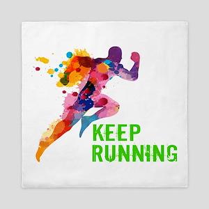 Keep Running Queen Duvet
