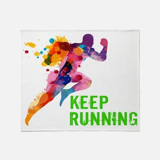 Keep Running Throw Blanket