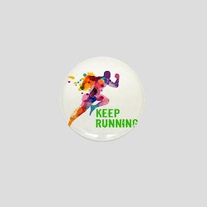 Keep Running Mini Button
