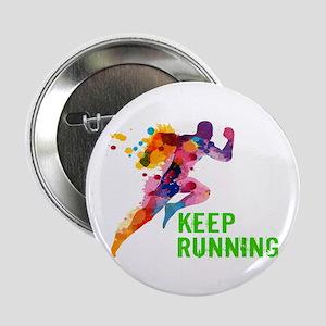 """Keep Running 2.25"""" Button (10 pack)"""