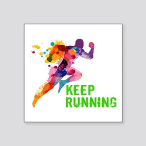 Keep Running Sticker