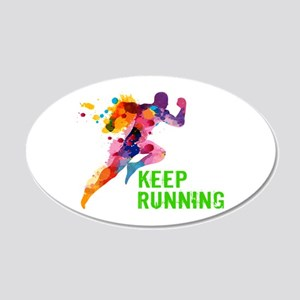 Keep Running Wall Sticker