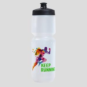Keep Running Sports Bottle